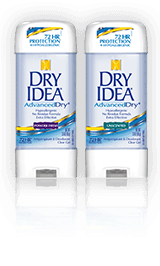 Dry Idea Advanced Unscented and Powder Fresh Gel
